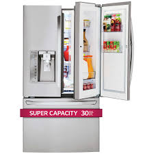 lg refrigerator door in door. lg 30cuft super-capacity 3-door french door stainless steel refrigerator with door-in-door lg in