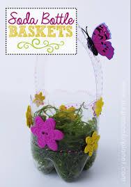 plastic bottle diy easter baskets
