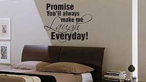 promise you ll always make me laugh wall art sticker quote bedroom hallway  on bedroom wall art stickers quotes with promise you ll always make me laugh wall art sticker quote bedroom