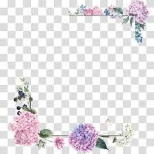 Wedding Invitation Frame Flower Purple Purple Border Frame