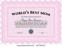 Free Award Templates Stunning Best Mom Award Template Guilloche Pattern Stock Vector Royalty Free
