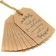 thank you tags for wedding favors 100pcs kraft paper gift tags wedding favor tags thank you tag