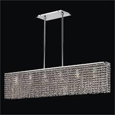 modern linear chandelier modern rectangular crystal chandelier urban essentials