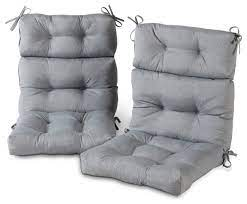 outdoor high back chair cushion set of