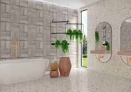 banheiro revestido em porcelanato que imita mármore. Porcelanatos Estilo Vintage Do Granilite Volta Como Forte Tendencia E Confere Diversao Aos Ambientes De Huber Material De Acabamento Para Construcao
