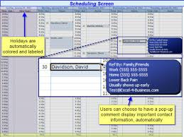 excel for scheduling excel contact scheduler excel 4 business