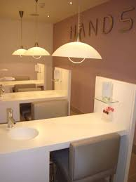 so cool love how the sink is in the table very