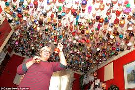 Small Picture Sylvia Pope decorates house with 1700 Christmas baubles from