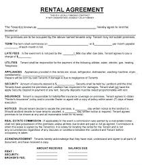 Lease Contract Templates Extraordinary Rental Property Contract Template Saunaweb