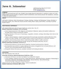 medical laboratory technician resume sample laboratory technician resume sample