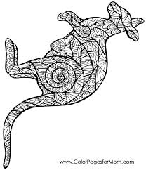 Small Picture Kangaroo coloring page Adult ColouringAnimalsZentangles