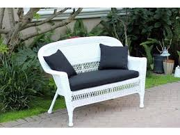 l fs017 cl white wicker patio love seat