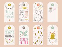 Hand Drawn Christmas Holiday Gift Tags Collection With Calligraphy