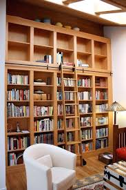 bookcase rolling ladder how to decorate with amazing diy bookshelf
