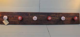 Black Wood Wall Coat Rack Rectangle Black Wooden Wall Mounted Coat Hook With Three Black Metal 88
