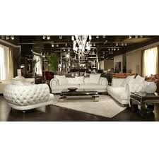 Michael Amini Living Room Furniture Mia Bella Ellia Leather Sofa Set By Michael Amini 3 Pc D2d