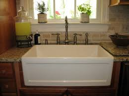 White Apron Kitchen Sink Kitchen Endearing Picture Of Kitchen Decoration Using Light Gray