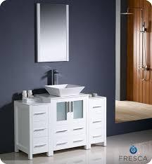 fresca torino 48 white modern bathroom vanity vessel sink belvedere 24 inch modern white bathroom
