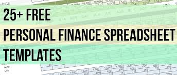 personal finance excel 25 free spreadsheet templates to manage your daily finances