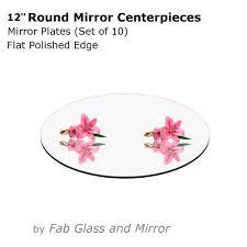 12 round mirrors centerpieces