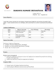 Sample Resume For Freshers Air Hostess Augustais. best ...
