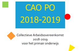 Afbeeldingsresultaat voor cao po 2019-2020