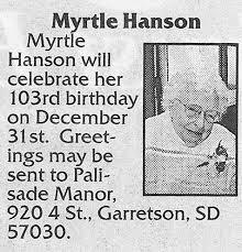 Happy 103rd Birthday Myrtle! | Beaver Valley Lutheran Church