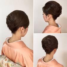小顔に見える和装 Hair2019 アップスタイル ヘアアレンジヘア