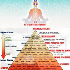 Food Vibrational Frequency Chart A High Vibrational Diet Consists Of Foods That Are Alive And
