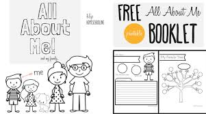 Small Picture All About Me Worksheet A Printable Book for Elementary Kids
