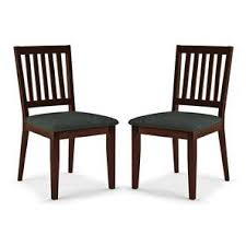 dining chairs online. Diner Dining Chairs - Set Of 2 (With Upholstery) (Dark Walnut Finish) Online E