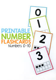 Free color flashcards for kindergarten & preschool! Printable Number Flashcards For 0 10 From Abcs To Acts