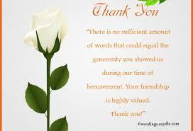 Thank You After Funeral Condolences Thank You Notes Condolences Thank Yous Tikiritschule