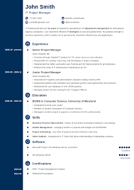 Resumes Templates Online 20 Resume Templates Download Create Your Resume In 5 Minutes