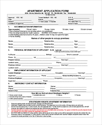 Sample Lease Application Form 9 Free Documents In Pdf Doc