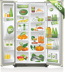 open refrigerator clipart. set of home appliances refrigerator design vector open clipart
