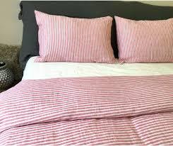 white stripe bedding stylish idea red and white striped bedding duvet cover handmade in natural linen