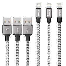 hiway lightning cable nylon braided charging cable cord iphone charger compatible with iphone 8