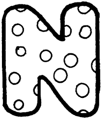 Letter N With Polka Dot Coloring Page Free Printable Coloring Pages