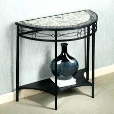 black half moon console table. Unique Table Black Half Moon Table Entry Iron Console  Having Shelf  Inside M