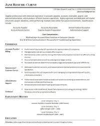 Resume Accounts Payable Unique Accounts Payable Resume Compatible