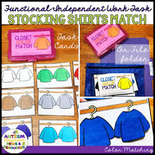 Functional Color Matching Independent Work Task Stocking Shirts