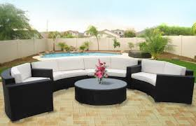 Discount Outdoor Circular Sectional Patio Furniture by LexMod