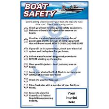 Poster - Emergency Boat Safety