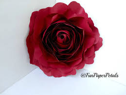 Paper Flower Templates Free Download X Large Rose Template Paper Flower Template Digital Download Etsy