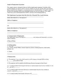 Free Employment Contract Templates Free Employment Contract Template