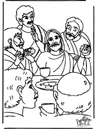 Laatste Avondmaal Bijbel Kleurplaten Nieuwe Testament