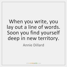 Annie dillard on writing