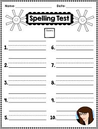 Spelling Test Template Unique Freebie Spring Spelling Test Templates Template 48 Words