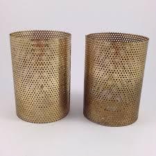 Vintage Perforated Metal Lamp Shade Pair - $25.00
